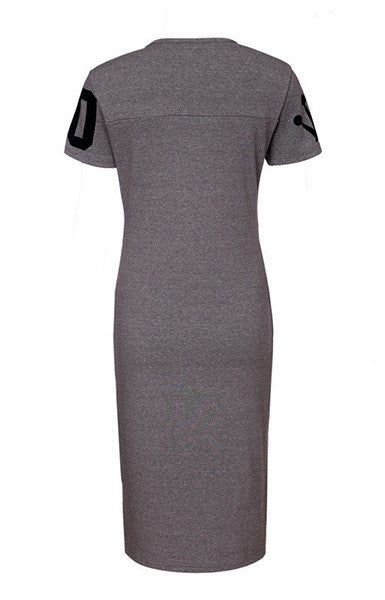 Trendy-Road-Style-Shop-Online-Woman-Fashion-Street-Dress-shortsleeve-basic-slim-oneck-letters-print-darkgray