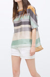 Color Stripes Blouse