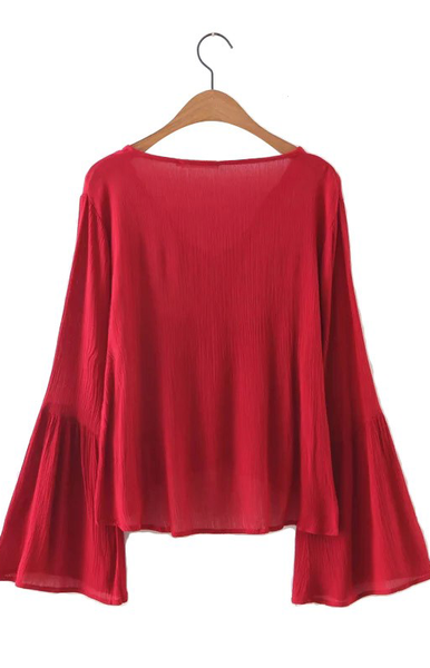 Trendy-Road-Style-Shop-Online-Woman-Fashion-Street-blouse-embroidery-floral-vneck-red