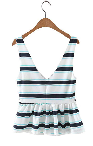 Trendy-Road-Style-Shop-Online-Woman-Fashion-Street-top-blouse-sleeveless-v-neck-striped-white-blue-backless