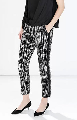 B&W Geometric Pants