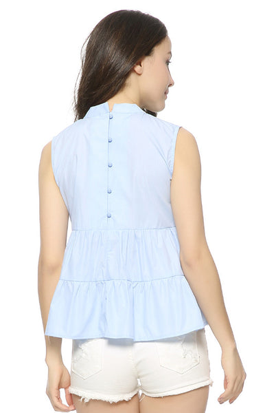 Trendy-Road-Style-Shop-Online-Woman-Fashion-Street-blouse-oneck-ruffles-sleeveless-skyblue (2