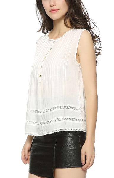 Trendy-Road-Style-Shop-Online-Woman-Fashion-Street-blouse-sleeveless-o-neck-boho-white-buttons-lace