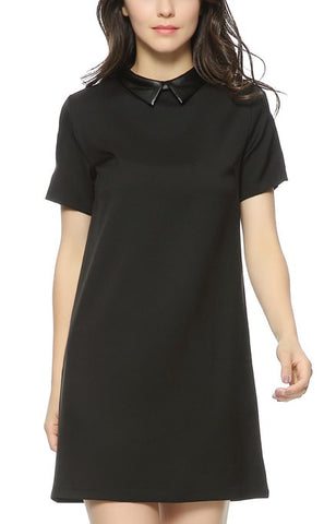 Trendy-Road-Style-Shop-Online-Woman-Fashion-Street-mini-dress-black-turn-down-collar-short-sleeve