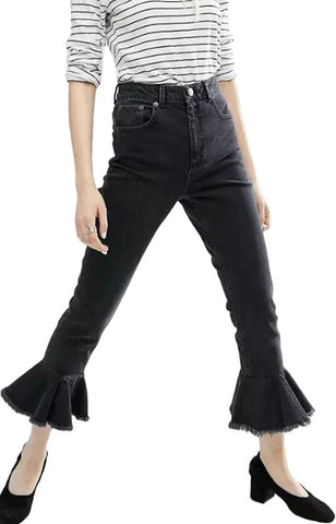 Trendy-Road-Style-Shop-Online-Woman-Fashion-Street-pants-jeans-flare-ankle-length-black