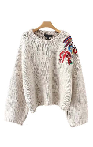 Trendy-Road-Style-Shop-Online-Woman-Fashion-Street-sweater-pullover-oversize-floral-embroidery-beige-warm-knitted