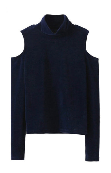 Trendy-Road-Style-Shop-Online-Woman-Fashion-Street-sweater-turtleneck-long-sleeve-off-shoulder-navy-blue