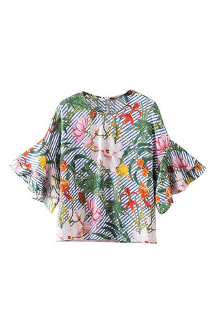 Trendy-Road-Style-Shop-Online-Woman-Fashion-Street-top-blouse-o-neck-ruffles-short-sleeve-loose-colorful-floral