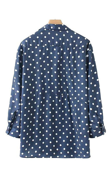 Trendy-Road-Style-Shop-Online-Woman-Fashion-Street-top-blouse-vneck-olka-dot-long-sleeve-blue-woven