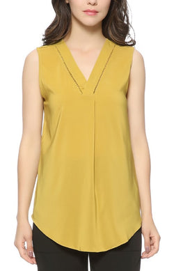 Trendy-Road-Style-Shop-Online-Woman-Fashion-Street-top-blouse-vneck-sleeveless-mustard