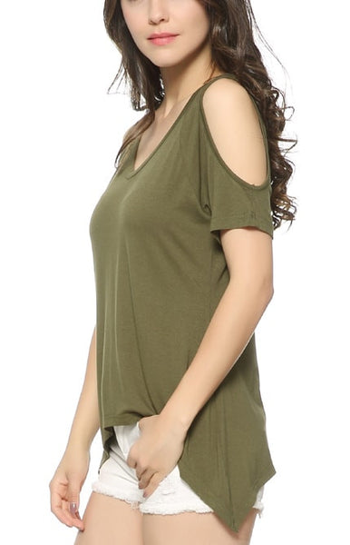 Trendy-Road-Style-Shop-Online-Woman-Fashion-Street-top-t-shirt-off-shoulder-short-sleeve-v-neck-army-green
