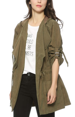 Trendy-Road-Style-Shop-Online-Woman-Fashion-Street-trench-hooded-adjustable-waist-tie-long-sleeve-jacket-army-green