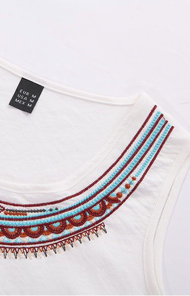 Vintage Totem Embroidery Top