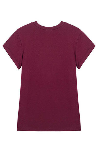 Trendy-Road-Style-Shop-Online-Woman-Fashion-Street-top-t-shirt-hi-print-o-neck-short-sleeve-wine-red