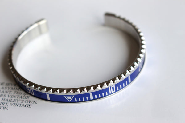 Marine steel bangle inspired by watch bezel GMT/Explorer II/Submariner
