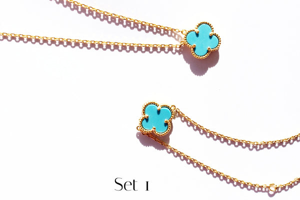 Lucky clover turquoise set