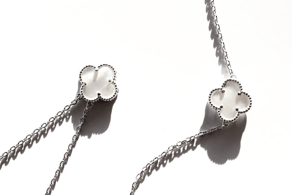 Lucky clover gift set 18k platinum plated