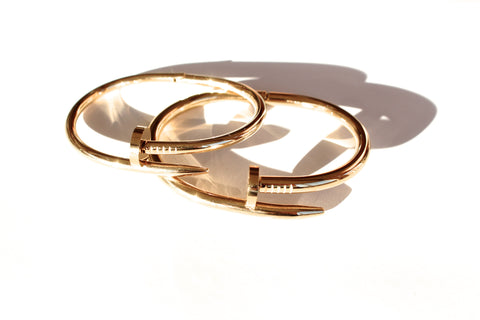 Nail Bangle Love Lock set