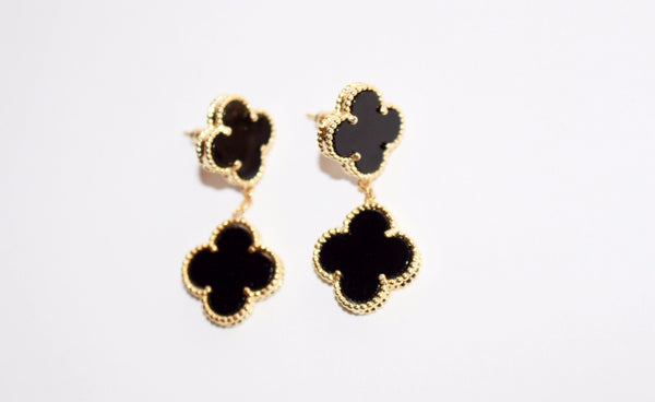 Magic lucky clover earrings, 2 motifs