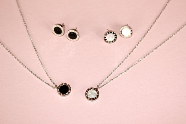 Circle full set 18k platinum plated