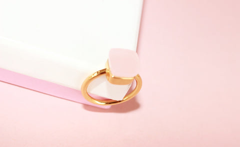 Venus ring Pink quartz