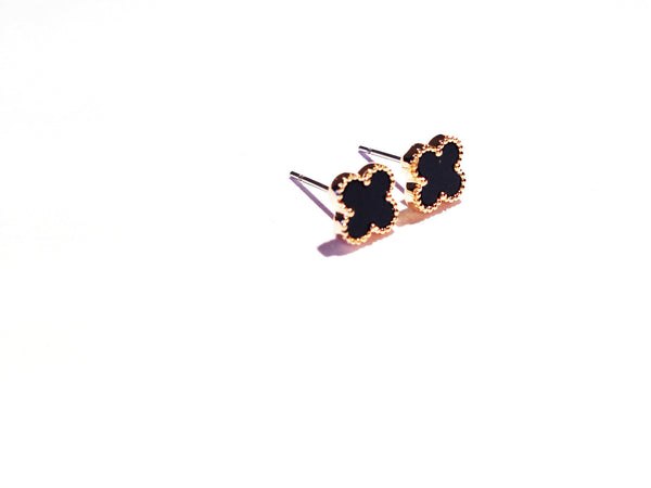 Lucky clover mini earring studs