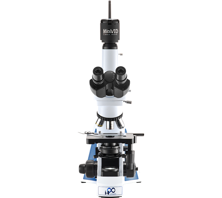 UL Marked i4 Infinity, 12 Volt, 4 Objective Microscope