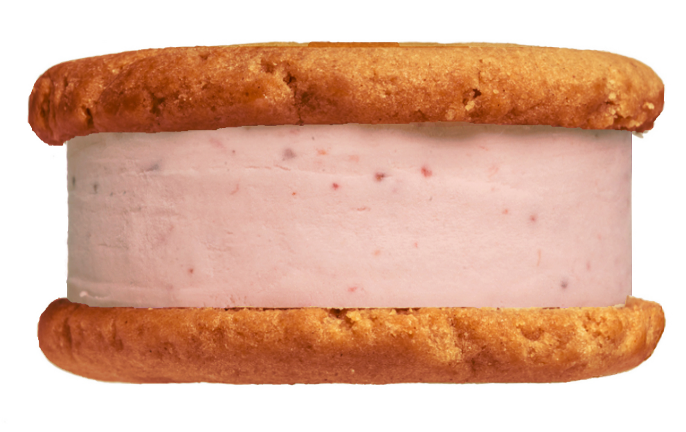 Cherie = Candied Almond Cookies + Cherry Ice Cream