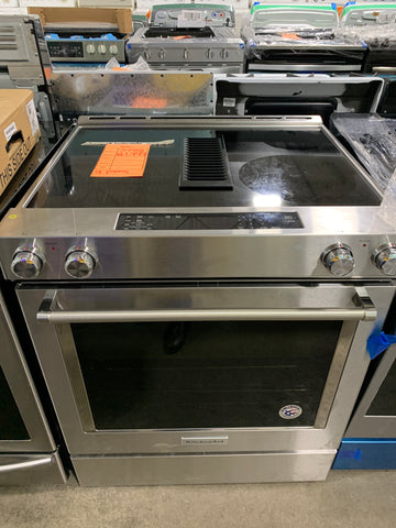 "KITCHEN AID NEW 30"" STAINLESS STEEL SLIDE IN ELECTRIC STOVE 220VOLTS $1999 #39918"