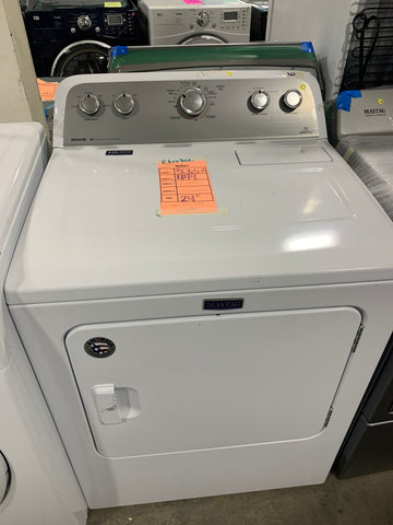 MAYTAG NEW WHITE ELECTRIC DRYER 220VOLTS $449 #30663
