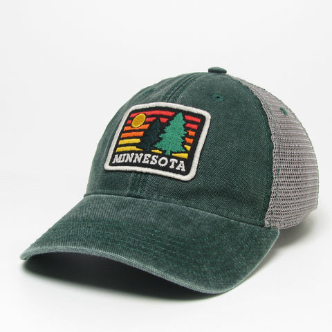 Rainbow Pine Trucker Hat