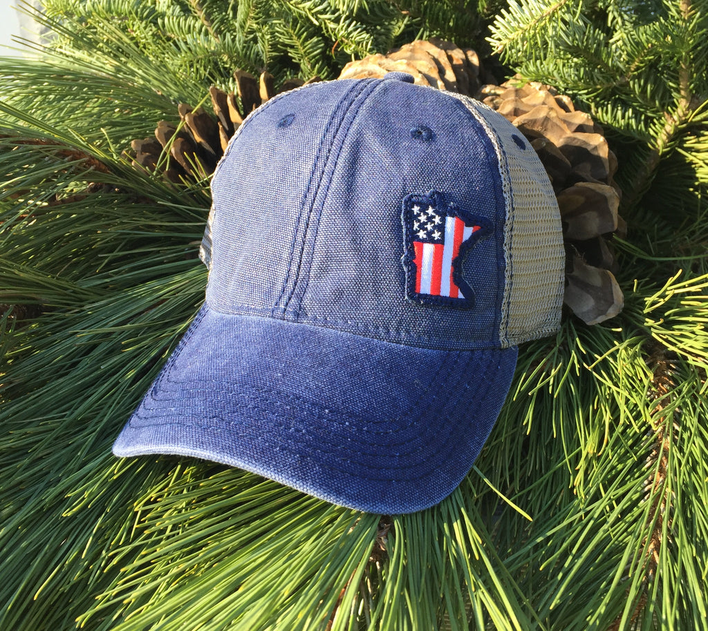 Minnesota USA Flag Hat