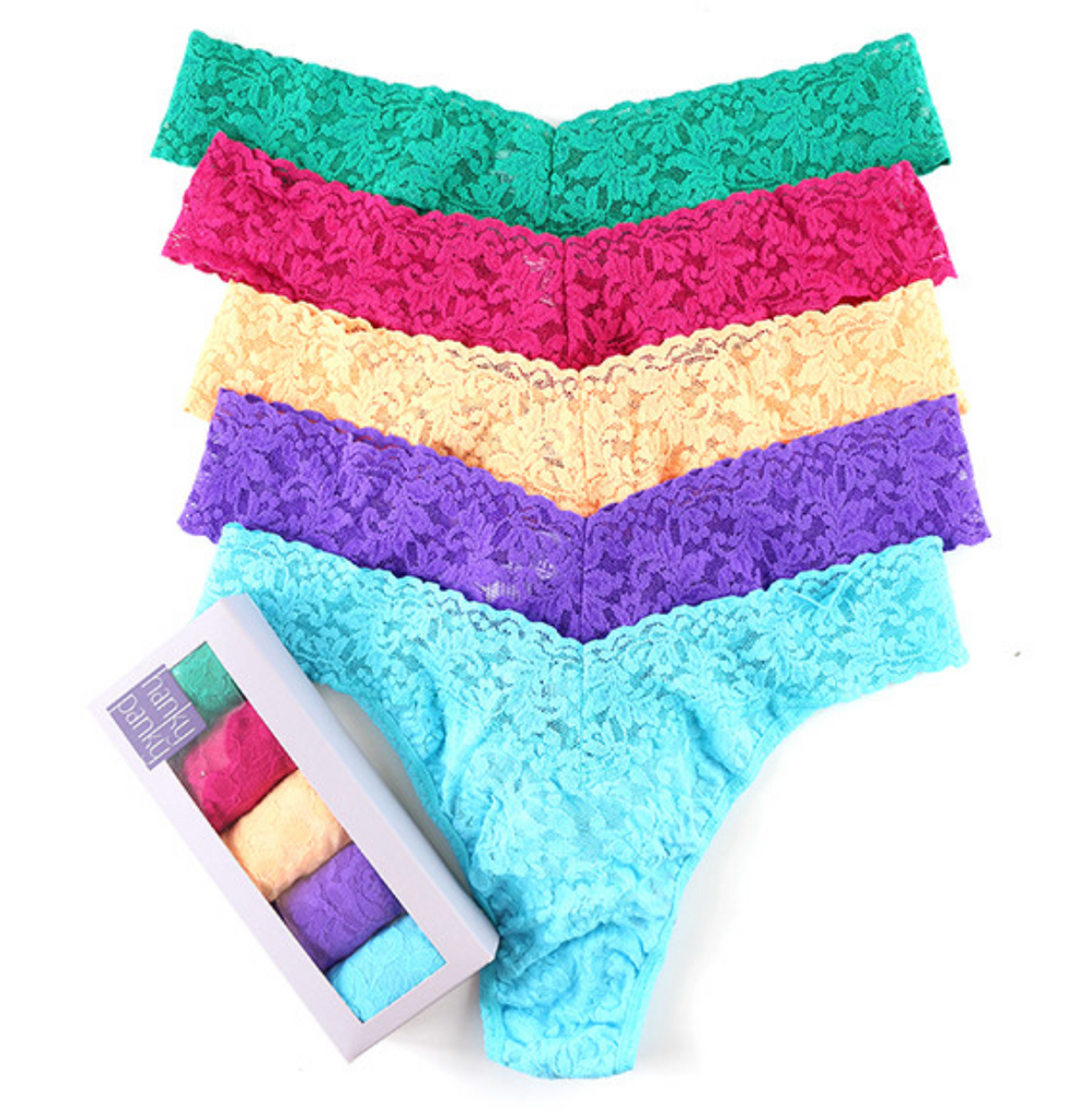 Hanky Panky 5 Pack Original Rise Thongs