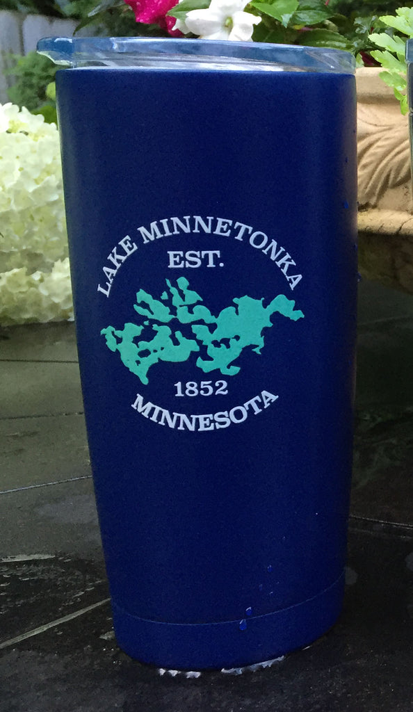 Lake Minnetonka Map Glassware