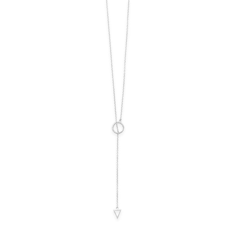 "24"" Multishape Lariat Necklace"