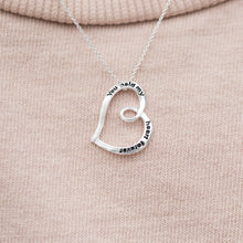 "Load image into Gallery viewer, ""You Hold My Heart Forever"" Necklace"