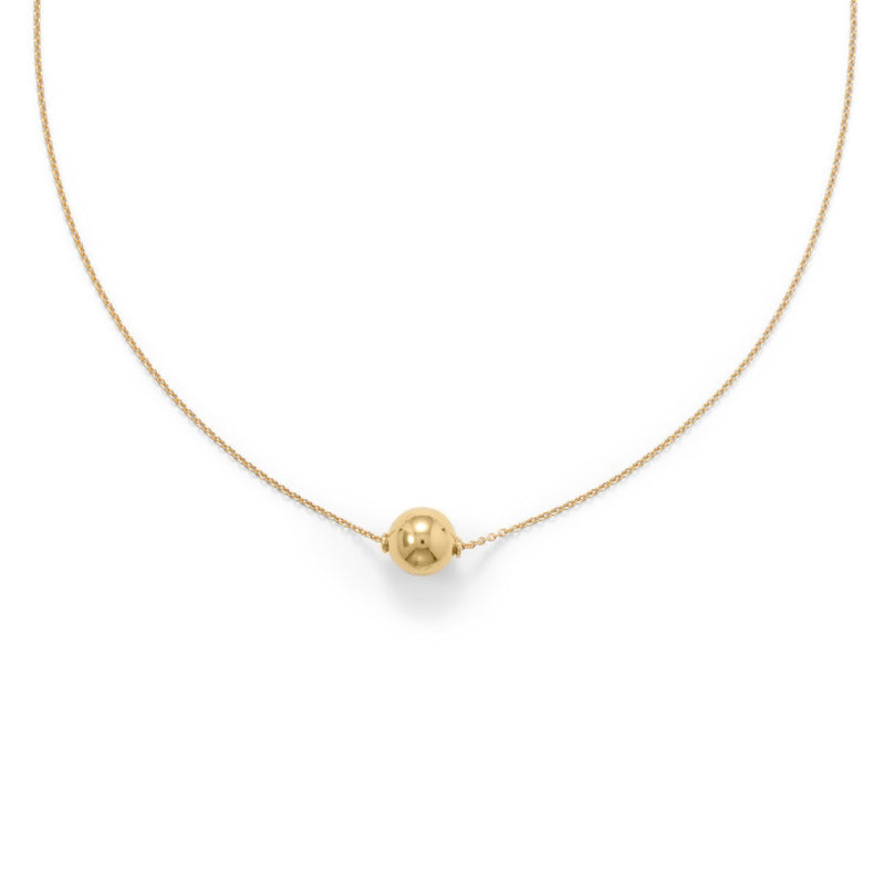 14 Karat Gold Plate Floating Bead Necklace