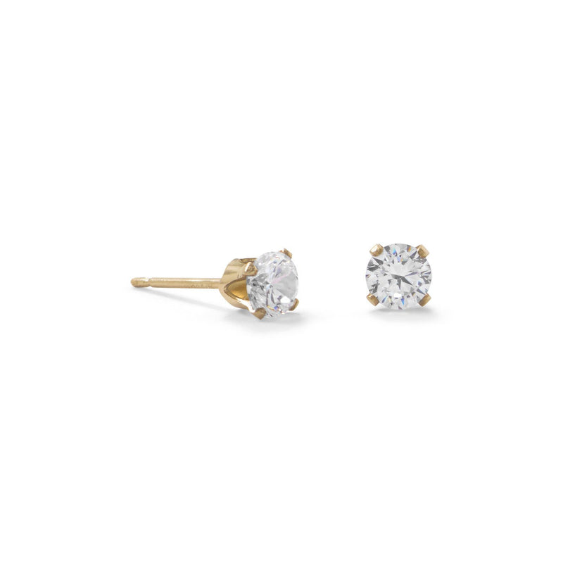 14/20 Gold Filled 4mm CZ Stud Earrings