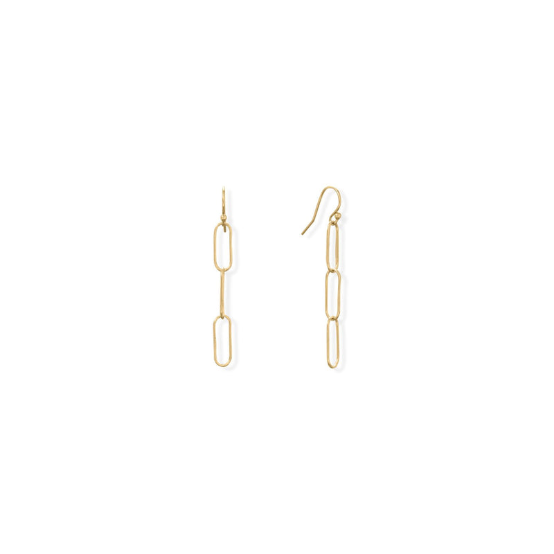 14/20 Gold Filled Paperclip French Wire Earrings