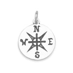 Oxidized Compass Pendant