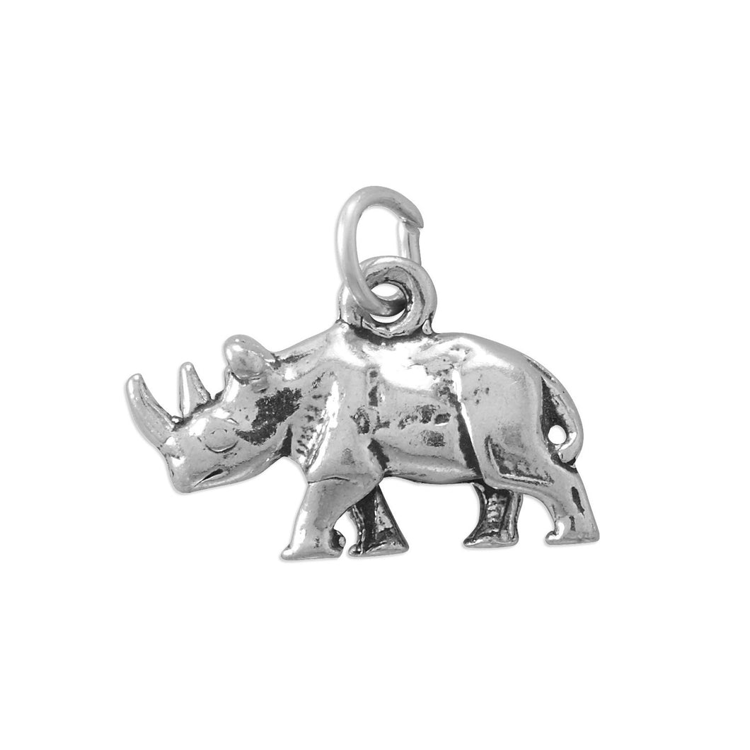 Two Horned Rhinoceros Charm