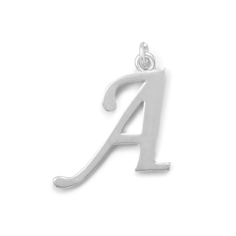 Polished Letter A Initial Pendant