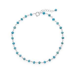 Blue Sea! Turquoise Anklet