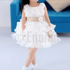 White Golden Bow Baby Girl / Toddler dress - Enumu  - 3