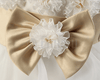 White Golden Bow Baby Girl / Toddler dress - Enumu