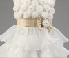 White Golden Bow Baby Girl / Toddler dress - Enumu  - 9