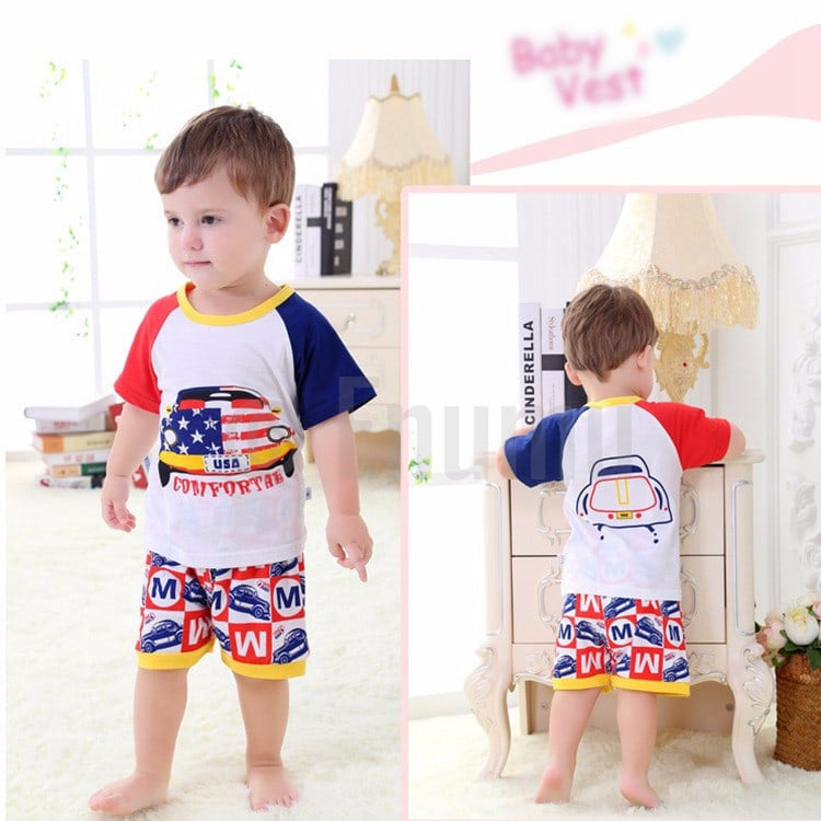 USA Print Baby Boy T Shirt Pant set - Enumu