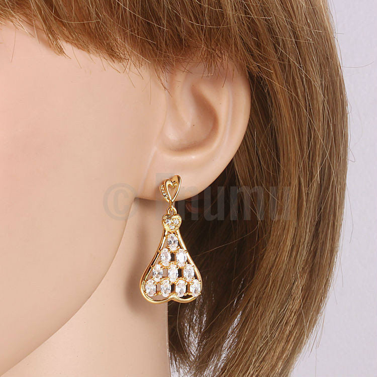 Heart Dangle Love Earrings - Enumu  - 3