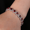 Ruby Heart Diamond Imitation Bracelet - Enumu  - 3
