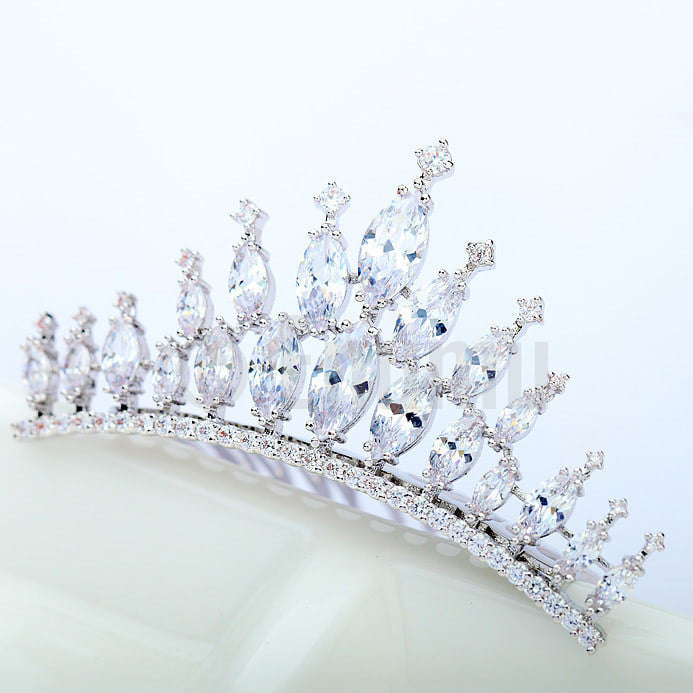 Diamond Imitation Tiara or Hair Clip / Accessories - Enumu